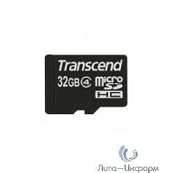 Micro SecureDigital 32Gb Transcend TS32GUSDHC4 {MicroSDHC Class 4, SD adapter}