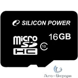 Micro SecureDigital 16Gb Silicon Power SP016GBSTH010V10 {MicroSDHC Class 10}