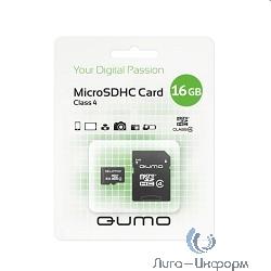 Micro SecureDigital 16Gb QUMO QM16GMICSDHC4 {MicroSDHC Class 4}