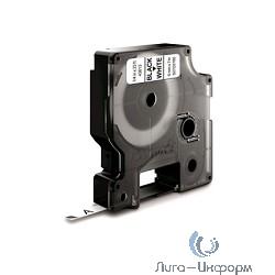 Dymo Картридж с лентой 9 мм х 7м. , пластик черный шрифт на белом фоне [S0720680]