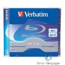 BD-R Verbatim 6-x, 50 Gb,  Jewel Case Ink Print диски (43736/43735)