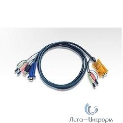 ATEN 2L-5302U Кабель KVM  USB (тип A Male) 1.8м., черный.