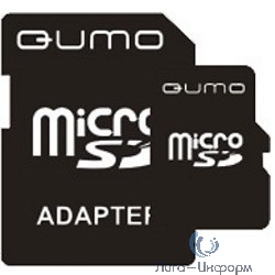 Micro SecureDigital 4Gb QUMO QM4GMICSDHC4 {MicroSDHC Class 4, SD adapter}