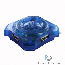 CBR  CH-127 USB-концентратор , 4 порта, USB 2.0, голуб.