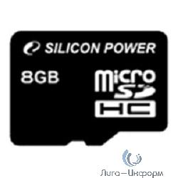 Micro SecureDigital 8Gb Silicon Power SP008GBSTH010V10 {MicroSDHC Class 10}