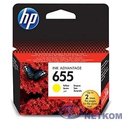 HP CZ112AE Картридж №655, Yellow {DeskJet IA 3525/5525/4615/4625, Yellow}