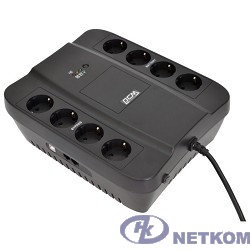UPS PowerCom SPD-650U {Line-Interactive, 650VA / 390W, Tower, Schuko, USB}