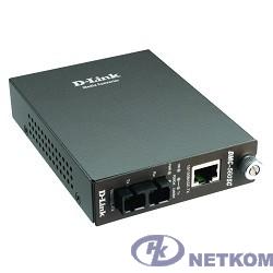 D-Link DMC-515SC/D7A Медиаконвертер с 1 портом 10/100Base-TX и 1 портом 100Base-FX с разъемом SC для одномодового оптического кабеля (до 15 км)