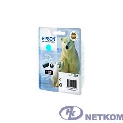 Epson C13T26324010/4012 26XL C для  Expression Premium XP-600, 605, 700, 800 (cons ink)