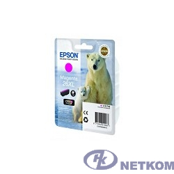 EPSON C13T26334010/4012 Картридж для Epson XP-600, XP-605, XP-700, XP-800, Пурпурный. 26XL MA (cons ink)