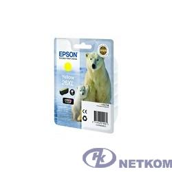 EPSON C13T26344010/4012 Картридж Epson XP-600, XP-605, XP-700, XP-800, Желтый. 26XL YE (cons ink)