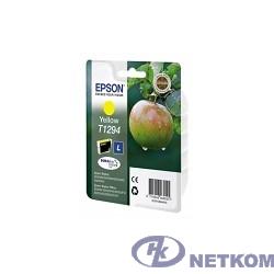 EPSON C13T12944011/4010/4012  Картридж для SX420W, SX425W,  SX525WD,  SX620FW, BX305F,  BX305FW,  BX320FW,  BX525WD,  BX625FWD,  желтый, L (cons ink)