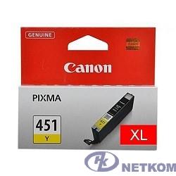 Canon CLI-451XLY 6475B001 Картридж для PIXMA iP7240, MG5440, 6340, Желтый, 685стр.