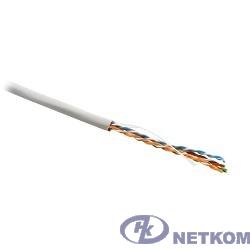 Hyperline UUTP4-C5E-S24-IN-PVC-GY-305 (305 м) Кабель витая пара, неэкранированная U/UTP, категория 5e, 4 пары (24 AWG), одножильный (solid), PVC, -20°C – +75°C, серый компонентная