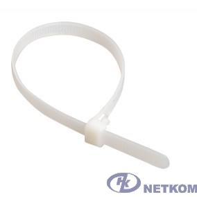 Hyperline GT-370IC Стяжка нейлоновая неоткрывающаяся, безгалогенная (halogen free), 370x3.6мм, (100 шт)