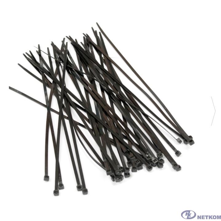 Hyperline GT-150IBC Стяжка нейлоновая неоткрывающаяся, безгалогенная (halogen free), 150x3.6мм, черная (100 шт)