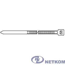 Hyperline GT-250IBUVC Стяжка нейлоновая неоткрывающаяся, безгалогенная (halogen free), 250x3.6мм, черная, outdoor (для использования от +80 C до -40 C), устойчивая к UV, (100 шт)