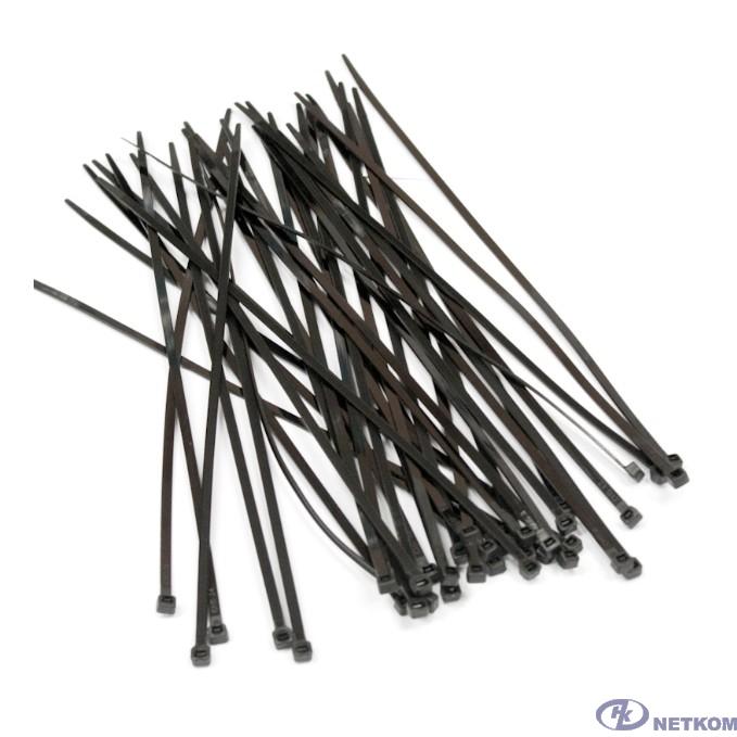 Hyperline GT-150IBUVC Стяжка нейлоновая неоткрывающаяся, безгалогенная (halogen free), 150x3.6мм, черная, outdoor (для использования от +80 C до -40 C), устойчивая к UV, (100 шт)