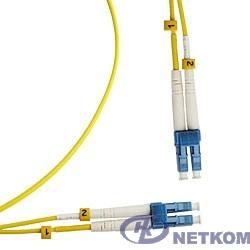Hyperline FC-D2-9-LC/UR-LC/UR-H-5M-LSZH-YL (FC-9-LC-LC-UPC-5M) Патч-корд волоконно-оптический (шнур) SM 9/125 (OS2), LC/UPC-LC/UPC, duplex, LSZH, 5 м