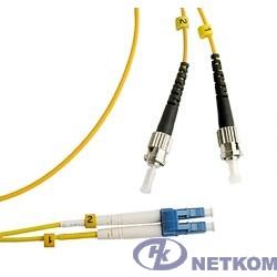 Hyperline FC-D2-9-LC/UR-ST/UR-H-1M-LSZH-YL (FC-9-ST-LC-UPC-1M) Патч-корд волоконно-оптический (шнур) SM 9/125 (OS2), ST/UPC-LC/UPC, duplex, LSZH, 1 м