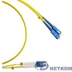 Hyperline FC-D2-9-LC/UR-SC/UR-H-3M-LSZH-YL Патч-корд волоконно-оптический (шнур) SM 9/125 (OS2), LC/UPC-SC/UPC, duplex, LSZH, 3 м