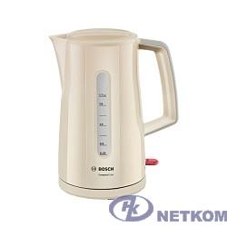 BOSCH TWK3A017 Чайник, Мощность 2400Вт, 1,7 л, бежевый