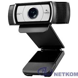 960-000972 Logitech Webcam C930e {Full HD 1080p/30fps, автофокус, zoom 4x, угол обзора 90°, стереомикрофон, защитная шторка, кабель 1.83м}