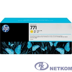 HP B6Y10A Картридж №771, Yellow {Designjet Z6200, Yellow (775ml)}