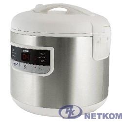 MYSTERY MCM-1015 Мультиварка 700 Вт, 5 л, 7 программ, металлик/ белый