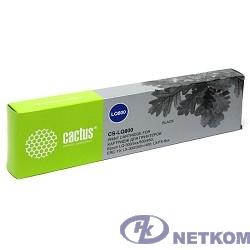 CACTUS LQ800 Картридж матричный (CS-LQ800) для Epson LQ-300/5xx/800/850; ERC-19; LX-300/300+/400; LX/FX-8xx, ресурс 3 000 000 зн, black