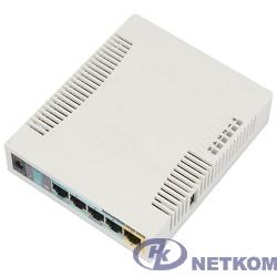 MikroTik RB951Ui-2HnD Беспроводной маршрутизатор  600Mhz CPU, 128MB RAM, 5xLAN, built-in 2.4Ghz 802b/g/n
