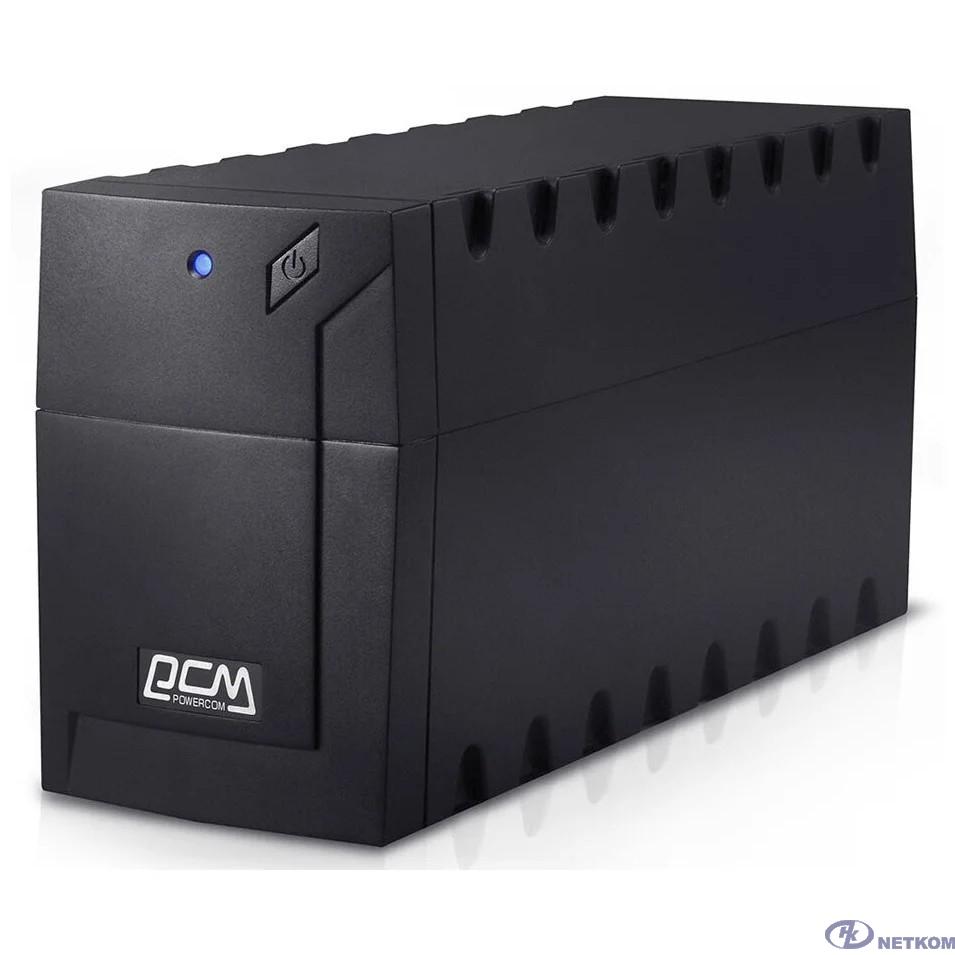 UPS PowerCom RPT-600AP {600 ВА/ 360 Вт, AVR, USB, RJ11/RJ45, 3 розетки IEC320 C13 с резервным питанием}