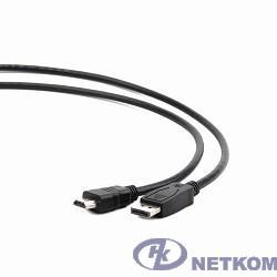 Кабель DisplayPort-HDMI Gembird/Cablexpert  3м, 20M/19M, черный, экран, пакет(CC-DP-HDMI-3M)