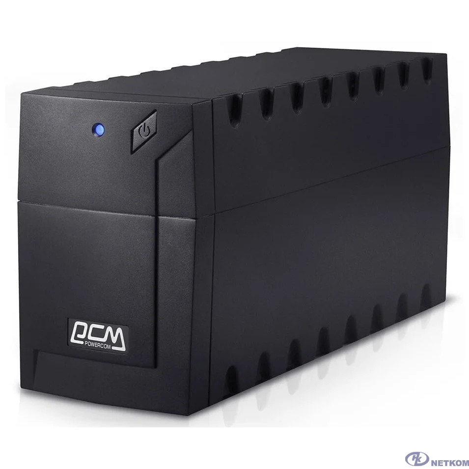 UPS PowerCom RPT-600A (PCM-RPT-600A) {600 ВА/ 360 Вт, AVR, 3 розетки IEC320 C13 с резервным питанием}