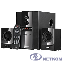 SVEN MS-1820, черный {RMS, 18Вт+2х11Вт, FM-тюнер, USB/SD, дисплей, ПДУ}