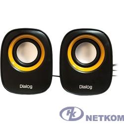 Dialog Colibri AC-06UP BLACK {акустические колонки 2.0, 6W RMS, питание от USB}
