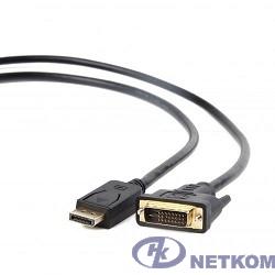 Кабель DisplayPort-DVI Gembird/Cablexpert  1.8м, 20М/25М, черный, экран, пакет(CC-DPM-DVIM-6/1.8M)
