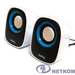 Dialog Colibri AC-06UP BLACK-WHITE {акустические колонки 2.0, 6W RMS, питание от USB}