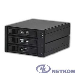 Procase L3-203-SATA3-BK {Hot-swap корзина 3 SATA3/SAS 6Gb, черный, с замком, hotswap aluminium mobie rack module (2x5,25) 1xFAN 80x15mm}