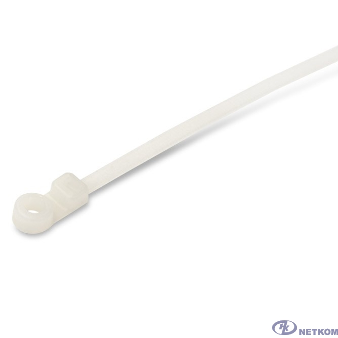 Hyperline GTM-200STC Стяжка нейлоновая неоткрывающаяся, безгалогенная (halogen free), 200x4.8мм, под винт (100 шт)