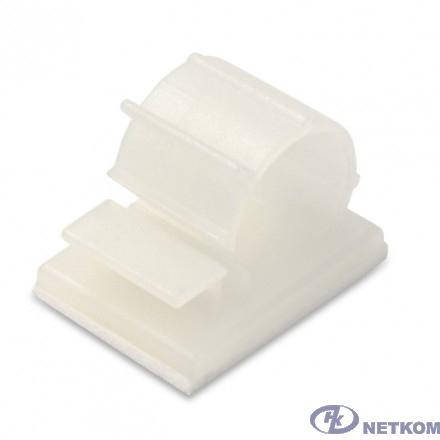 Hyperline HW-10AC Самоклеящаяся площадка для кабеля с рег. заж. 21.5х17мм, диам. 9-13мм (100 шт)