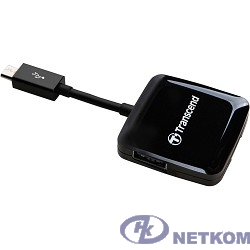 USB 2.0 Multi-Card Reader P9 All in 1 Transcend [TS-RDP9K] Black