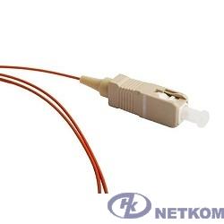 Hyperline FPT-B9-50-SC/PR-1M-LSZH-OR (FPT9-50-SC-PC-1M) Пигтейл волоконно-оптический MM 50/125 (OM2), SC, 1 м, LSZH