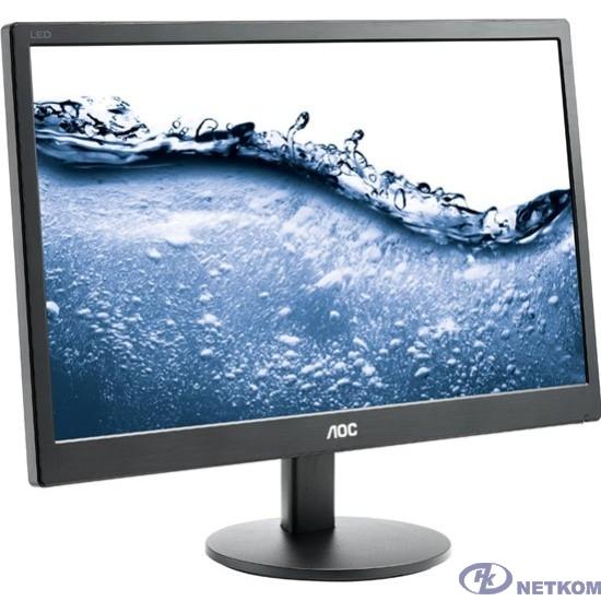 """LCD AOC 19.5"""" E2070SWN черный {TN 1600x900 75Hz 5ms 90/60 200cd 600:1 8bit(6bit+FRC) D-Sub VESA}"""