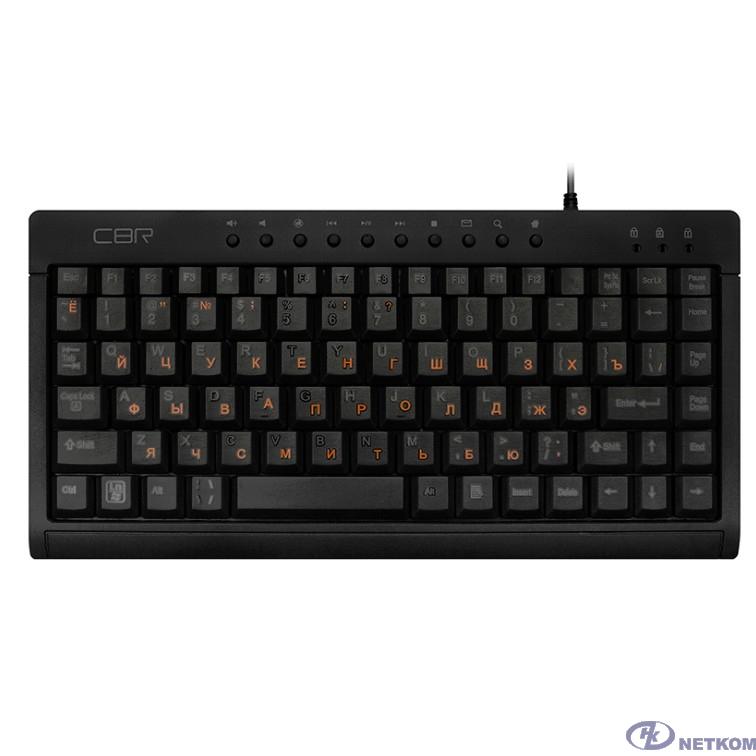 CBR KB 175 Black USB, Клавиатура проводная, мини