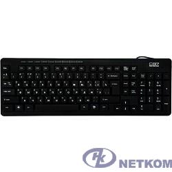 CBR KB 111M Black USB, Клавиатура 102 кнопки+мультимедия 9 кнопок, поверхность под карбон