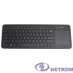 Microsoft Клавиатура All-in-One Media черный USB беспроводная Multimedia Touch