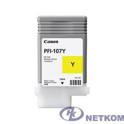 Canon PFI-107Y 6708B001 Картридж для  iPF680/685/770/780/785, Желтый, 130ml (GJ)