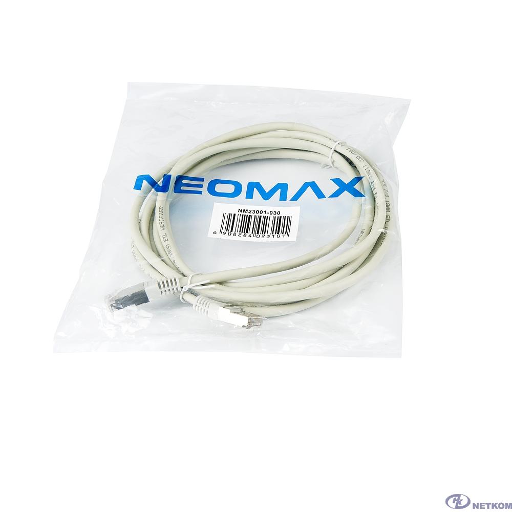 NEOMAX (NM23001-030) Шнур коммут. FTP 3 м., гибкий, Кат. 5е, многожильный