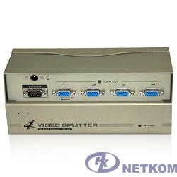 VCOM VDS8016 Разветвитель VGA 1->4-port (VGA15M+4VGA15F)+б.п.
